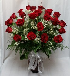 Two Dozen Roses Vased- Red from Shaw Florists in Grand Rapids, MN