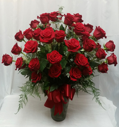 Three Dozen Red Roses Vased from Shaw Florists in Grand Rapids, MN