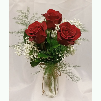 Triple Rose Vase from Shaw Florists in Grand Rapids, MN