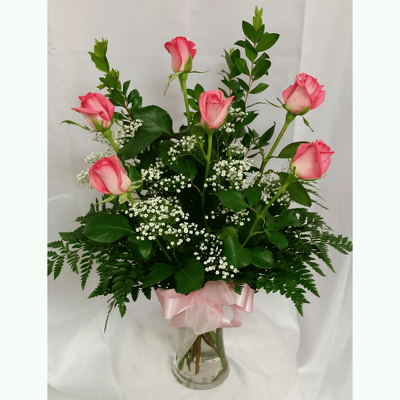 Half Dozen Roses- Pink from Shaw Florists in Grand Rapids, MN