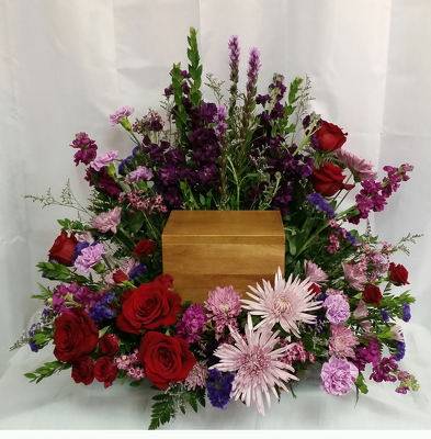 Deeply Loved Urn Spray from Shaw Florists in Grand Rapids, MN