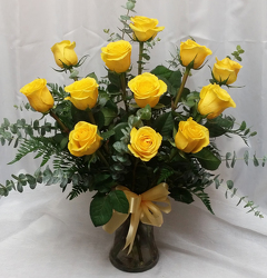 One Dozen Roses-Yellow from Shaw Florists in Grand Rapids, MN