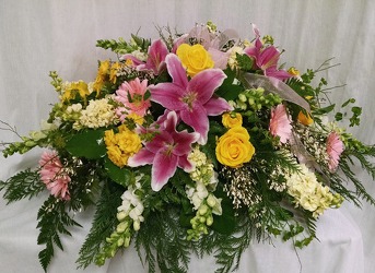 Fragrant Garden Casket Spray from Shaw Florists in Grand Rapids, MN