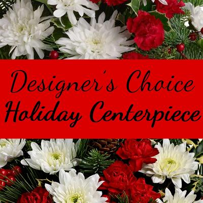 Designer's Choice Holiday Centerpiece from Shaw Florists in Grand Rapids, MN