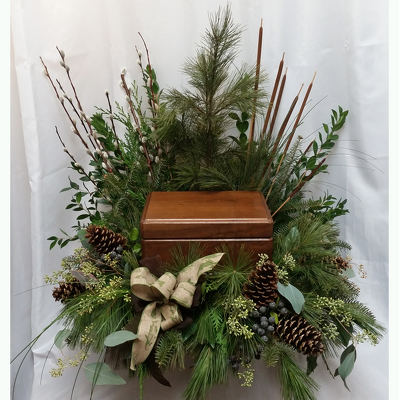 Peaceful Nature Urn Spray from Shaw Florists in Grand Rapids, MN