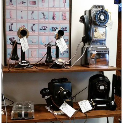 Antique Phones from Shaw Florists in Grand Rapids, MN