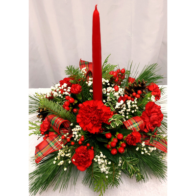 Single Candle Centerpiece from Shaw Florists in Grand Rapids, MN
