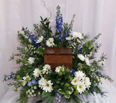 Summer Sky Urn Spray from Shaw Florists in Grand Rapids, MN