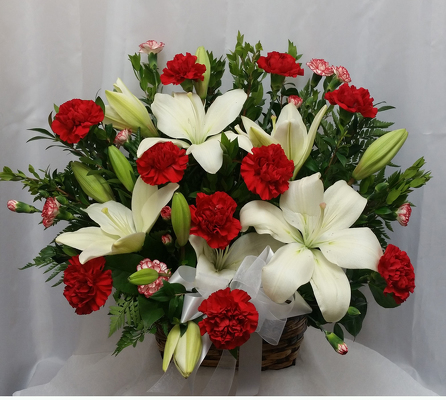 Timeless Tribute Basket from Shaw Florists in Grand Rapids, MN