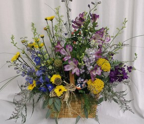 Wildflower Wishes Basket from Shaw Florists in Grand Rapids, MN