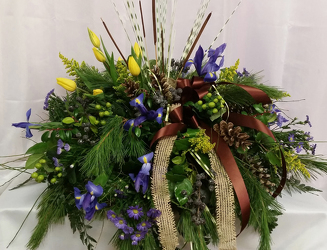 Woodland Memories Casket Spray from Shaw Florists in Grand Rapids, MN